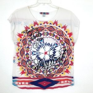 Desigual Embroidered Top